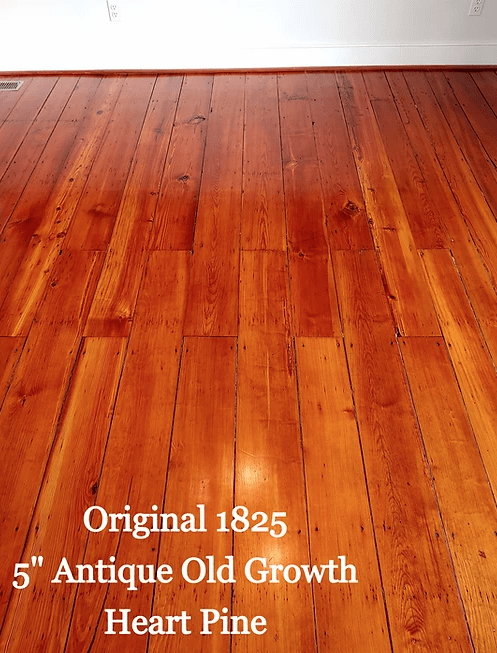"Original 1825 5"" Antique Old Growth Heart Pine in Centreville, MD from Carousel Hardwood Floors"