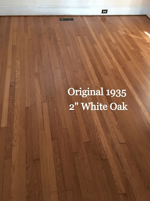 """Original 1935 2"""" White Oak floors in Church Hill, MD from Carousel Hardwood Floors"""