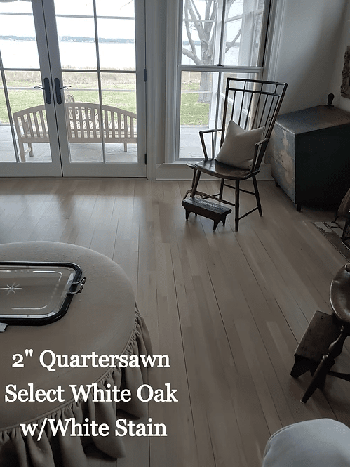 "2"" Quartersawn Select White Oak w/ White Stain in Preston, MD from Carousel Hardwood Floors"