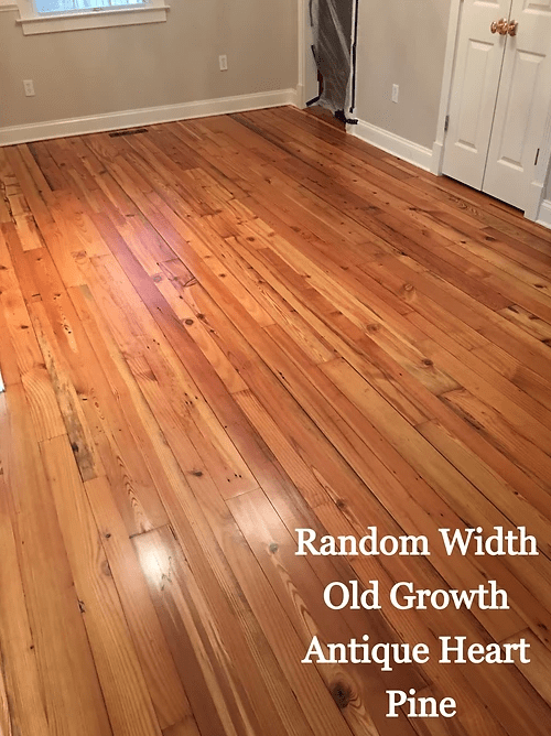 Random Width Old Growth Antique Heart Pine in Chestertown, MD from Carousel Hardwood Floors