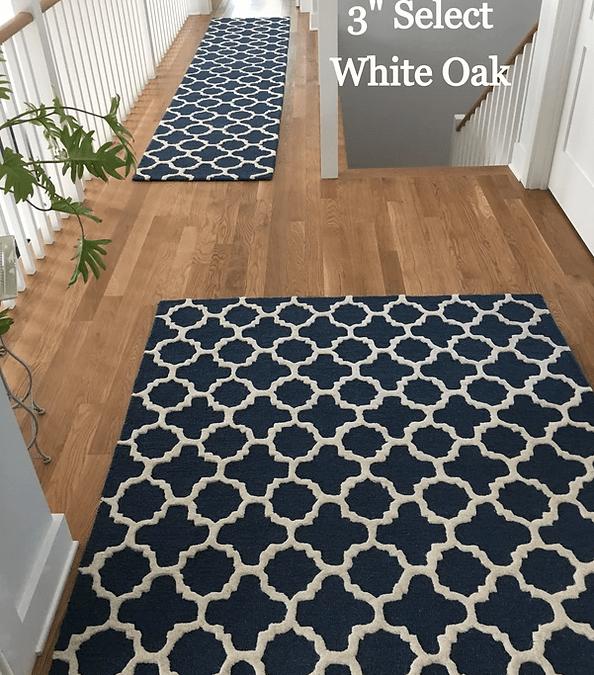 """3"""" Select White Oak hardwood floors in Denton, MD from Carousel Hardwood Floors"""