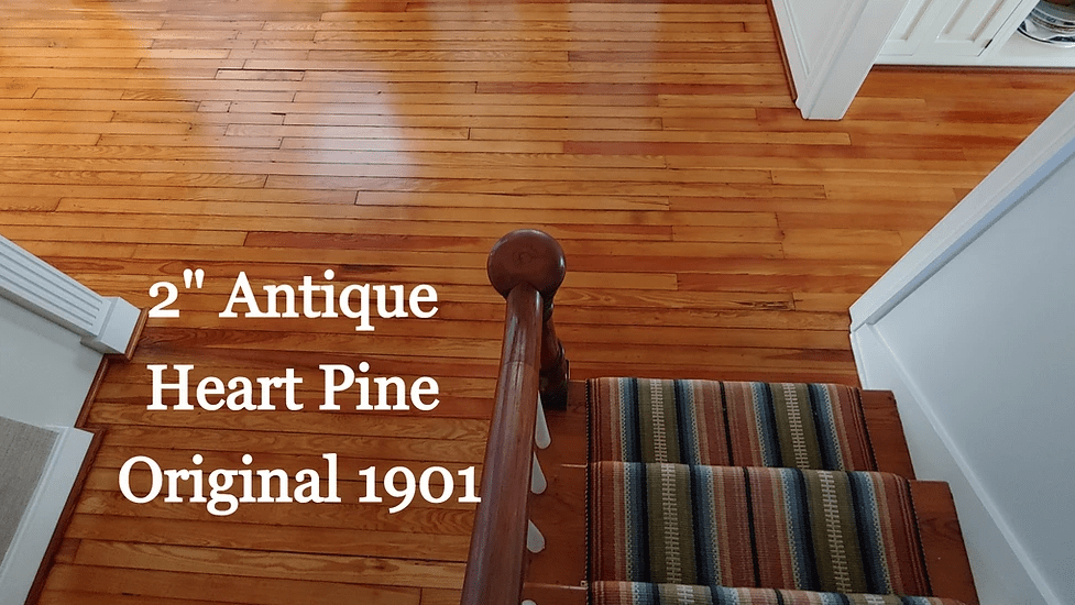 "2"" Antique Heart Pine Original 1901 in Chester,  MD from Carousel Hardwood Floors"