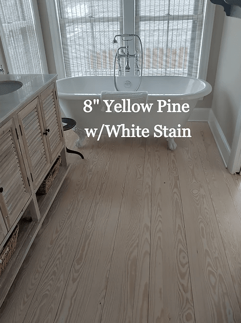 "8"" Yellow Pine w/ White Stain in Easton, MD from Carousel Hardwood Floors"