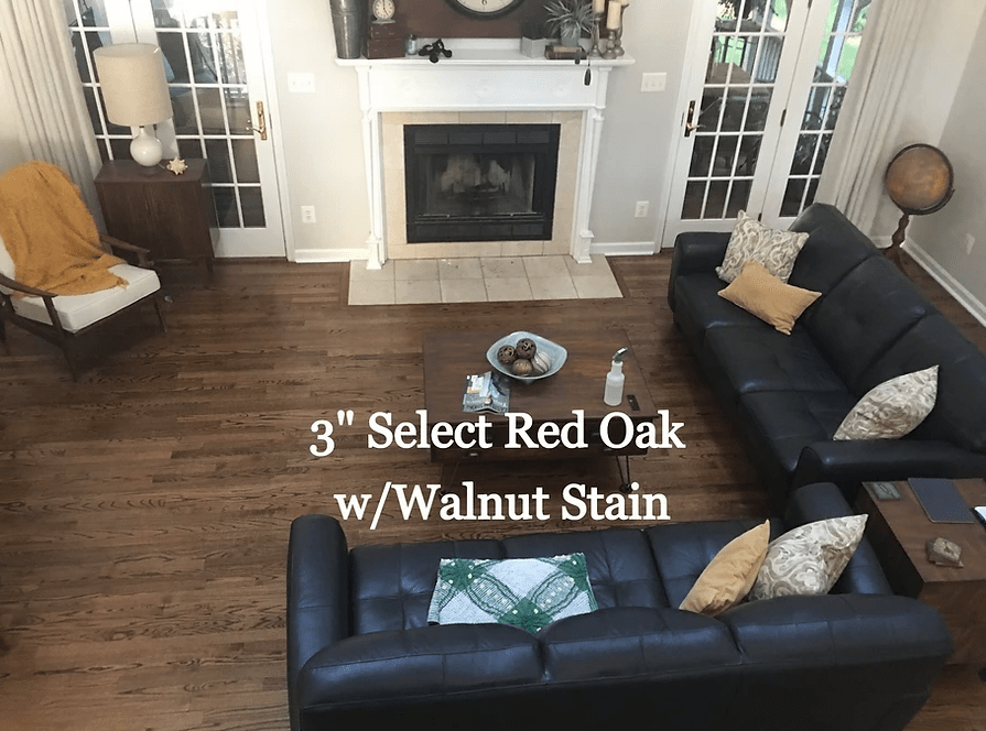 """3"""" Select Red Oak w/ Walnut Stain in Trappe, MD from Carousel Hardwood Floors"""