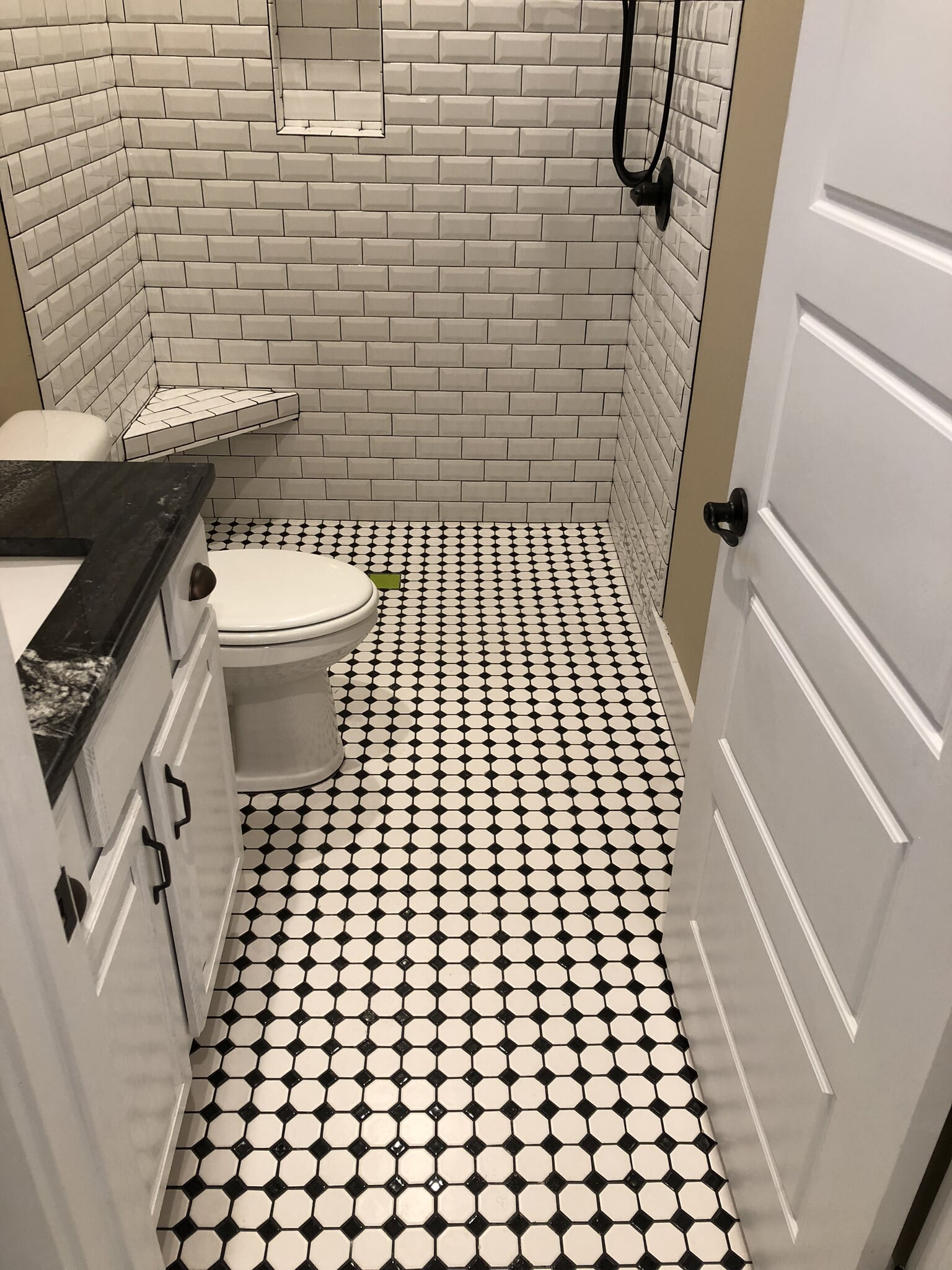 Black and white floor tiles in Foley, AL from G & J Tile & Floor Covering