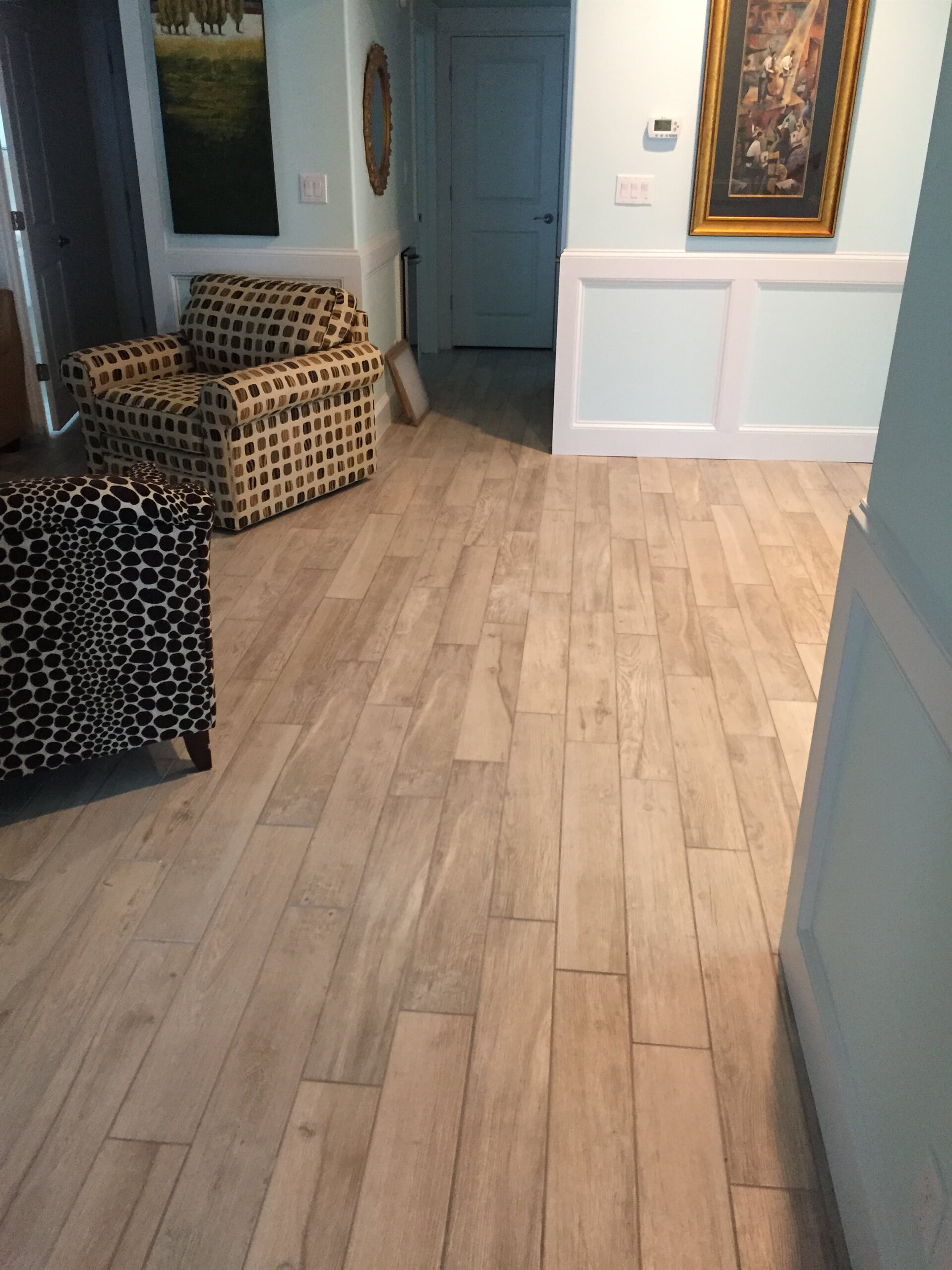 Narrow wood look tiles in Spanish Fort, AL from G & J Tile & Floor Covering