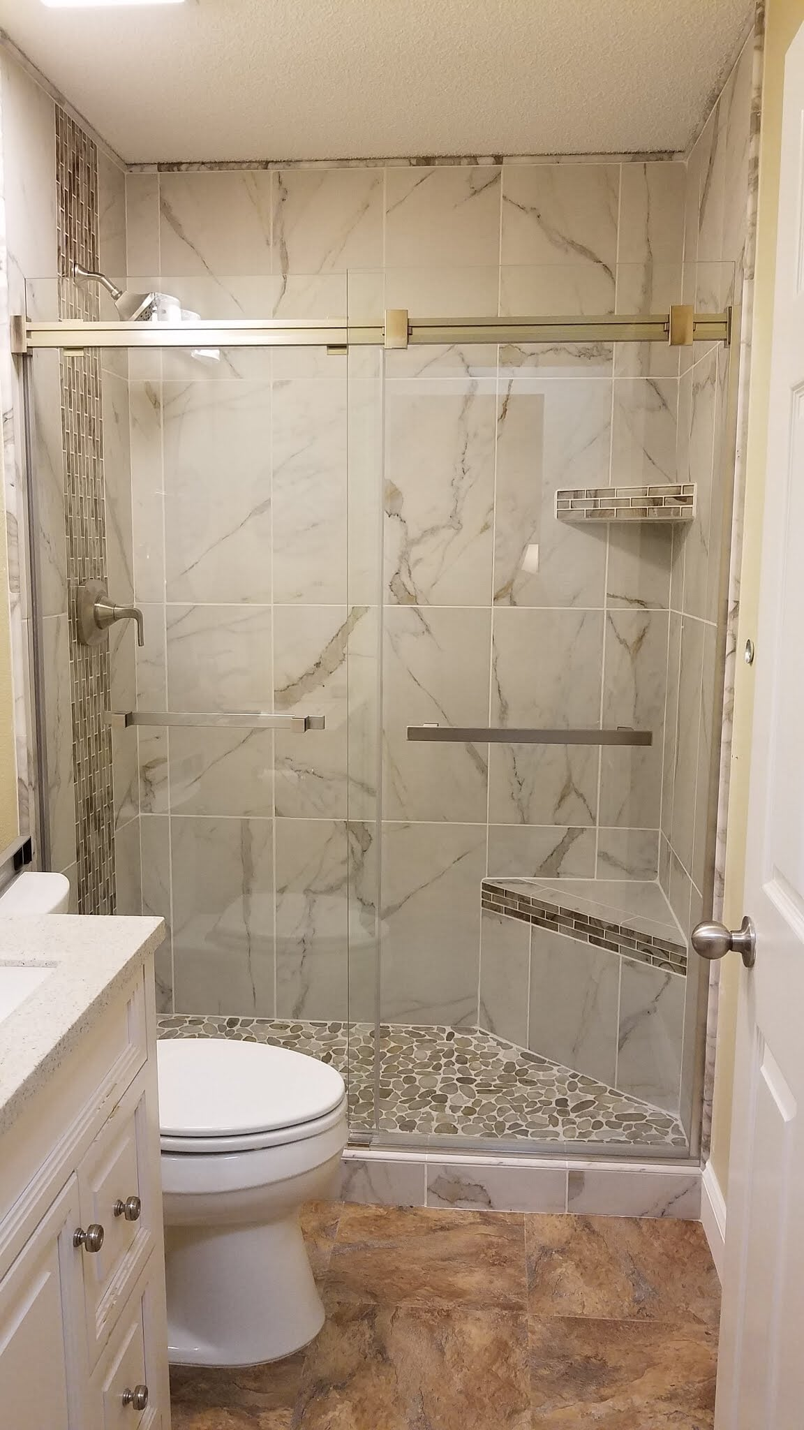 Tile shower installation in Gulf Shores, AL from G & J Tile & Floor Covering