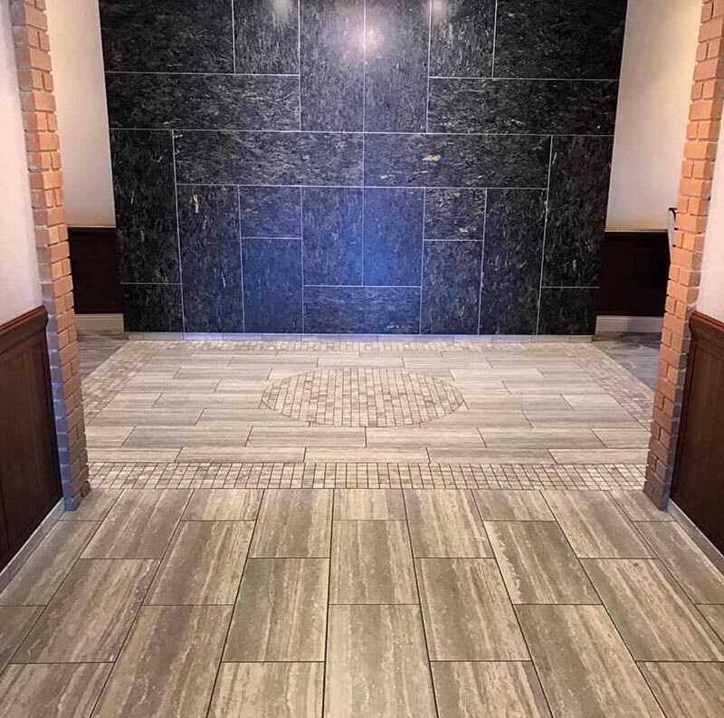 Tile installation in Libertyville, IL from Wholesale Carpet Designs