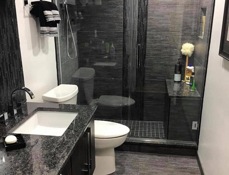 Modern bathroom design in Highland Park, IL from Wholesale Carpet Designs