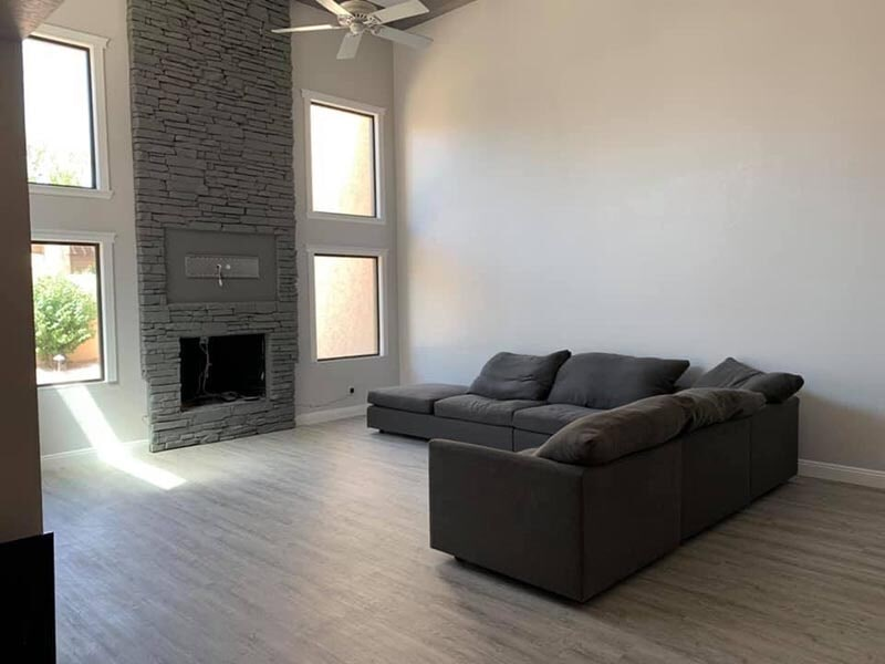 Modern living space in Buffalo Grove, IL from Wholesale Carpet Designs