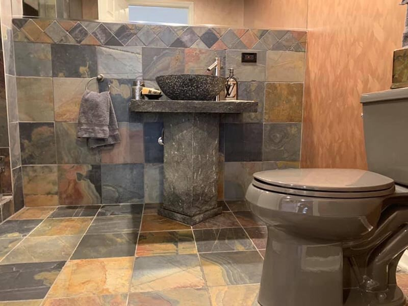Gorgeous bathroom design in Long Grove, IL from Wholesale Carpet Designs