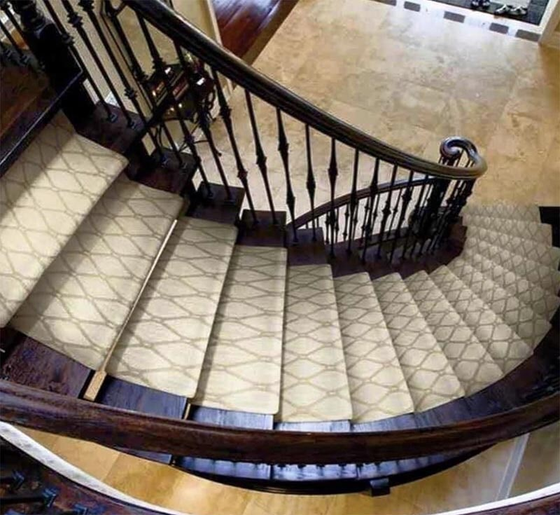 Carpet stair runner in Buffalo Grove, IL from Wholesale Carpet Designs