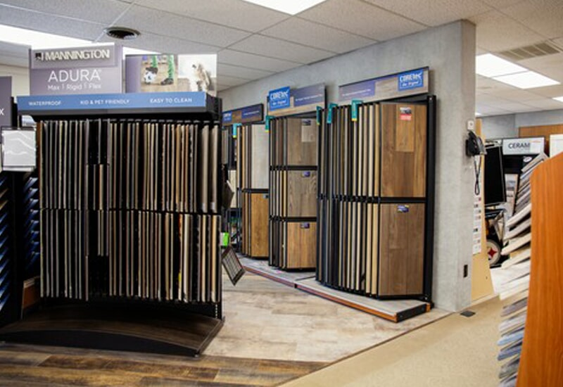 Hardwood flooring from the A.W. Bergey & Sons Inc. showroom near Lansdale, PA