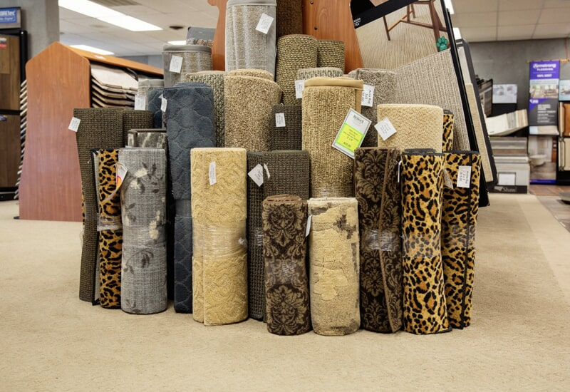 Carpet from the A.W. Bergey & Sons Inc. showroom near Souderton, PA