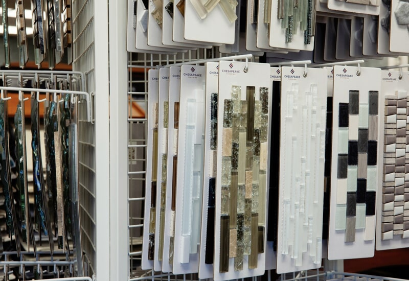 Tile options from the A.W. Bergey & Sons Inc. showroom near Skippack, PA