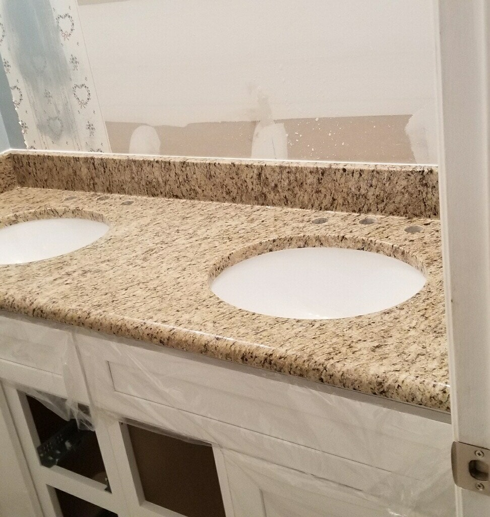 After bathroom countertops from ALL-PRO FLOORS in Southlake, TX