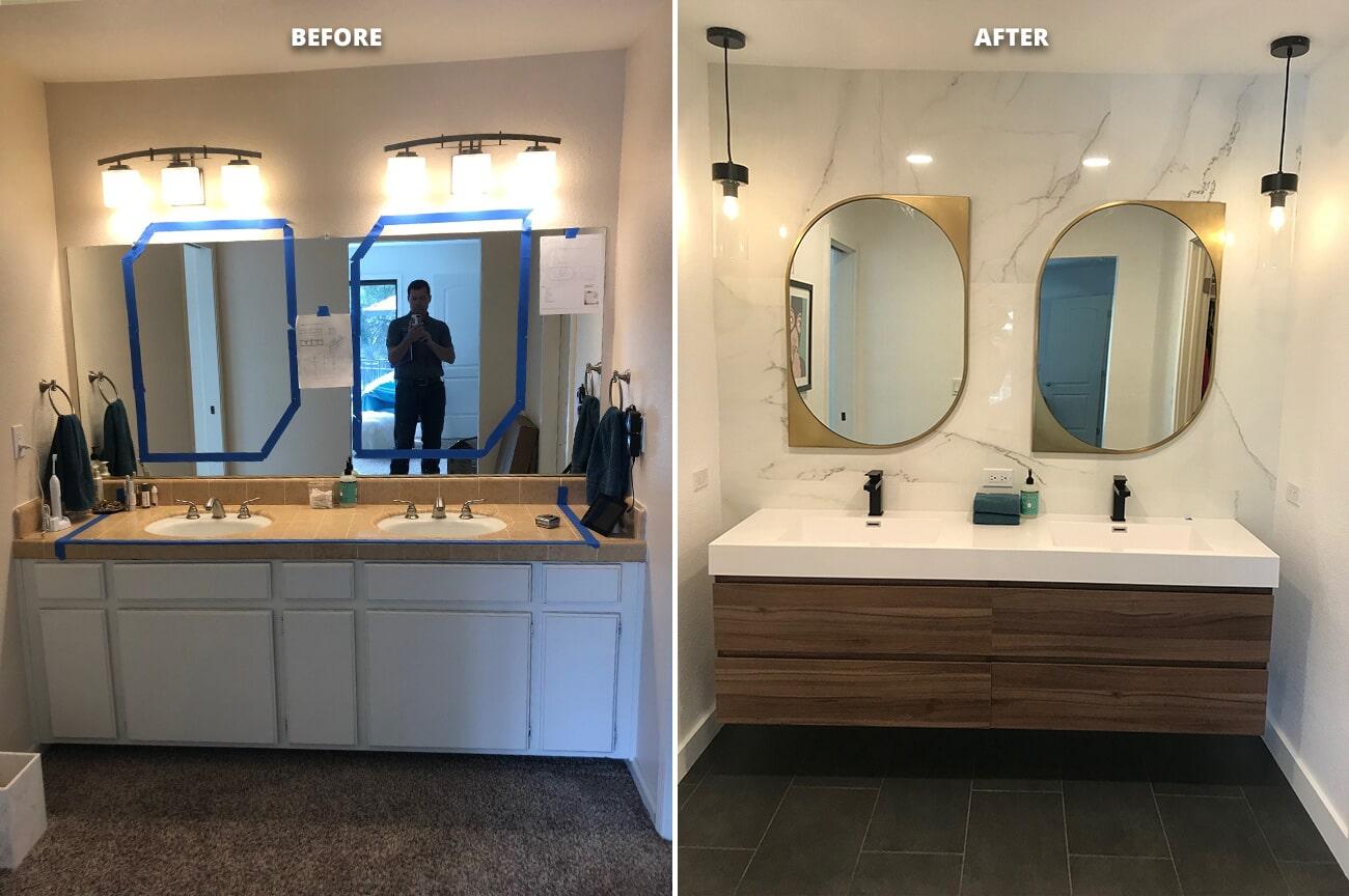 Bathroom Remodel in Folsom, CA from Designing Dreams Flooring & Remodeling