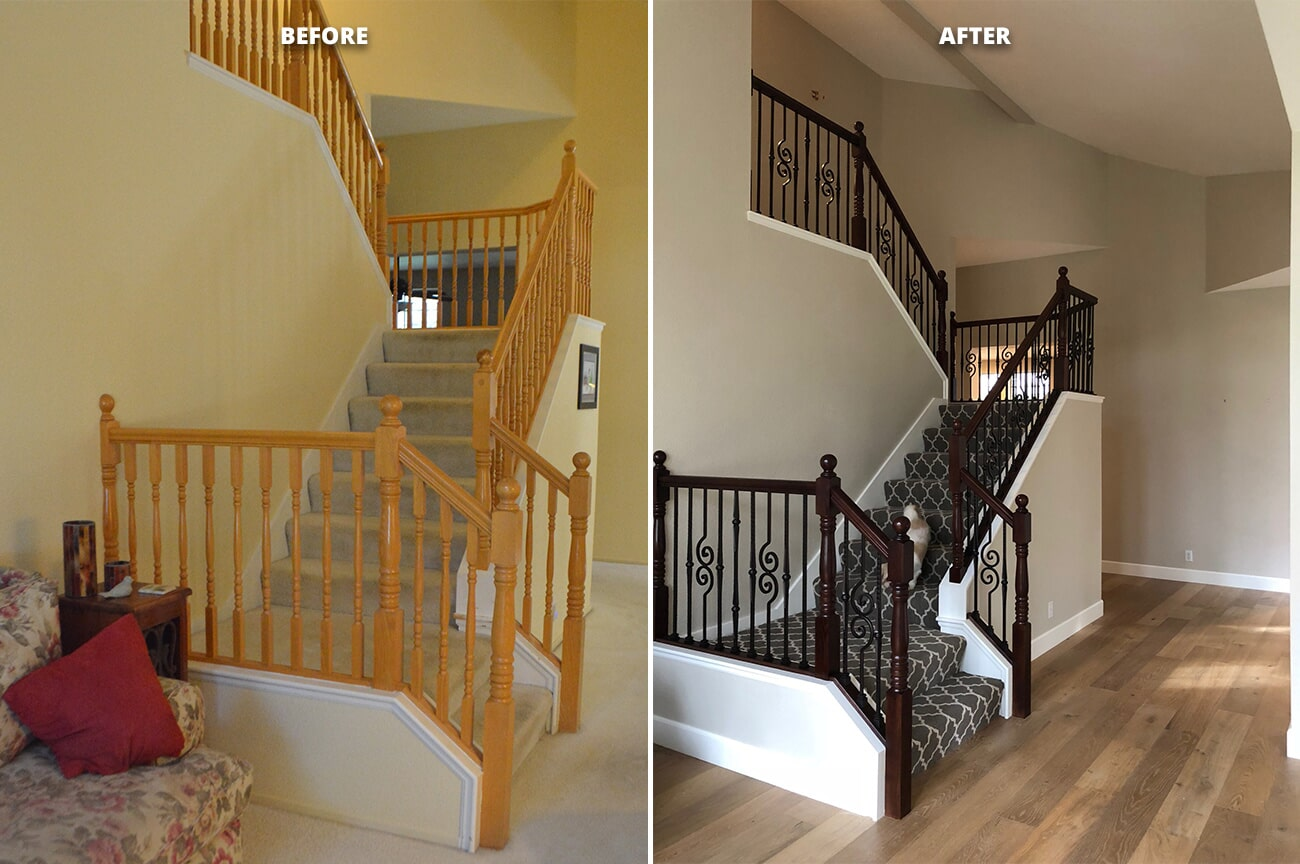 Stairs: Tuftex Color: Taza in Folsom, CA from Designing Dreams Flooring & Remodeling