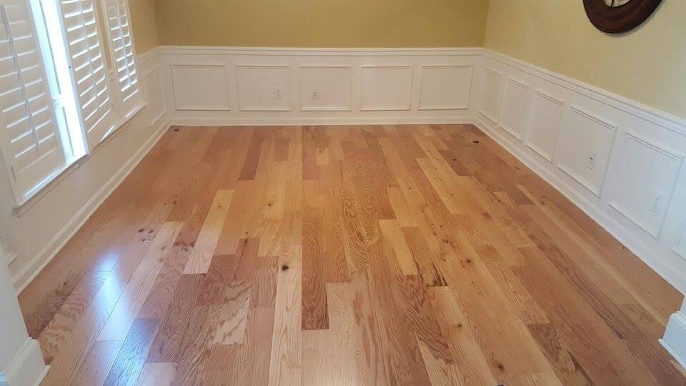 Classic hardwood flooring installation in Concord, NC from Custom Floor Solutions