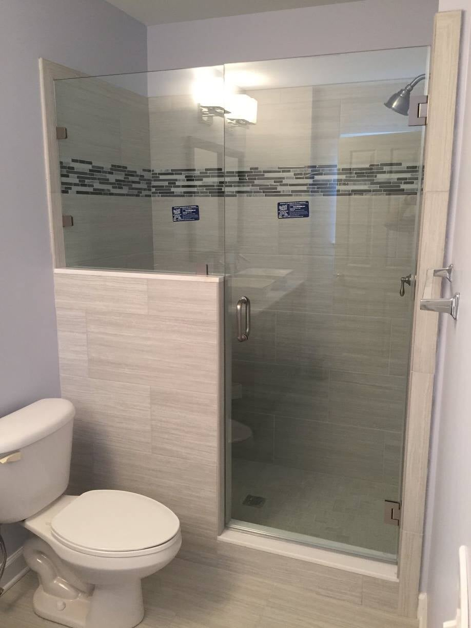 Tile shower installation in Concord, NC from Custom Floor Solutions