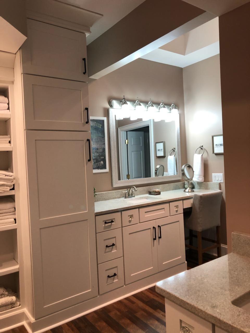 Modern bathroom vanity in Harrisburg, NC from Custom Floor Solutions