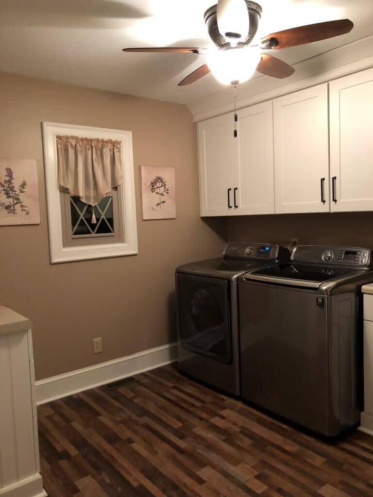 Laundry room flooring installation in Charlotte, NC from Custom Floor Solutions