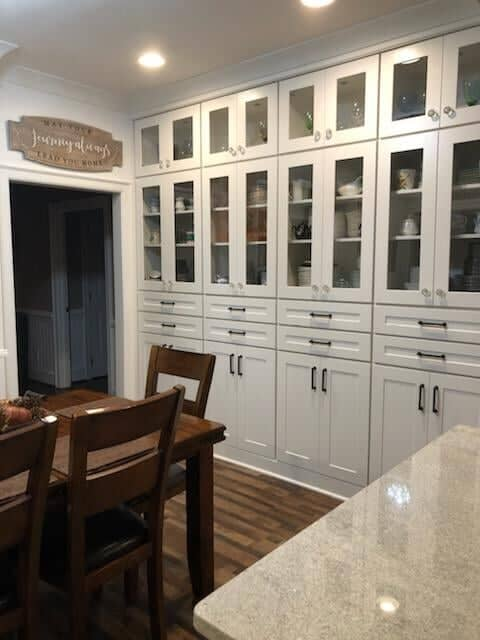 Gorgeous open cabinetry in Harrisburg, NC from Custom Floor Solutions