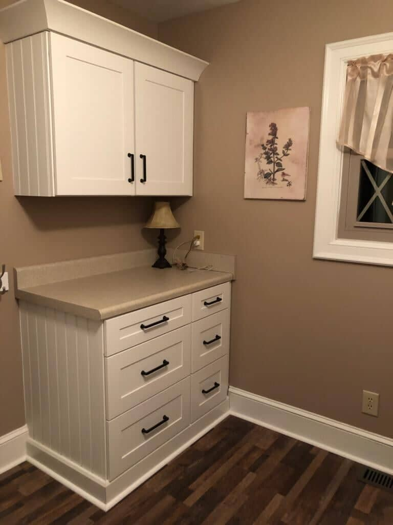 Laundry room renovation in Charlotte, NC from Custom Floor Solutions