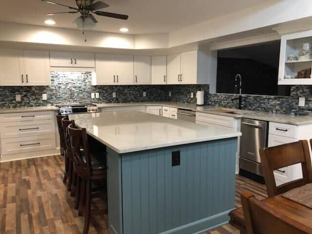 Open kitchen remodel in Harrisburg, NC from Custom Floor Solutions