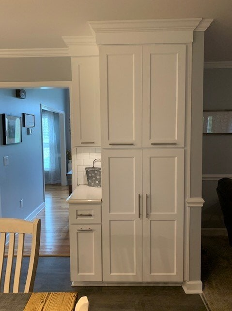 Modern white cabinets in Concord, NC from Custom Floor Solutions
