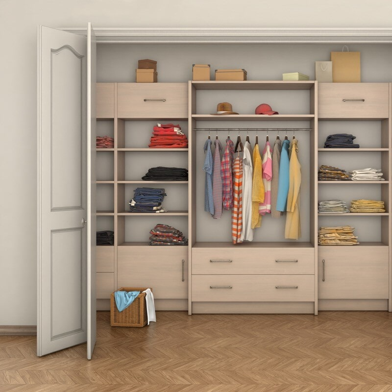 Reach-in closet Ann Arbor, MI from Esquire Interiors