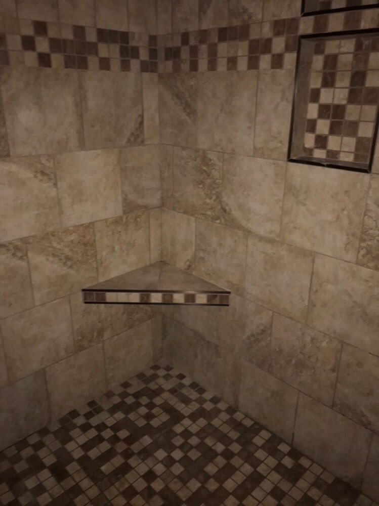 Custom square tile accents in Nashville, TN from Absolute Flooring Inc