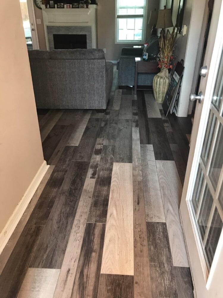Rustic multi color hardwood flooring in Lebanon, TN from Absolute Flooring Inc