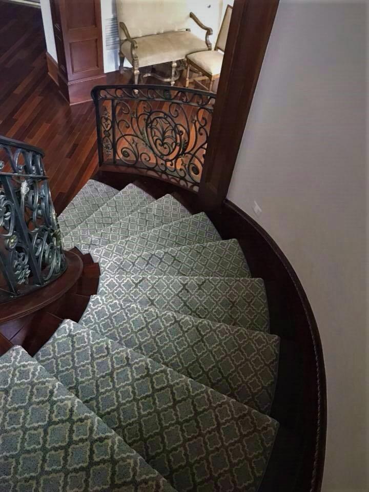 Custom carpet runner in Tyler, TX from SJ FloorSolutions LLC