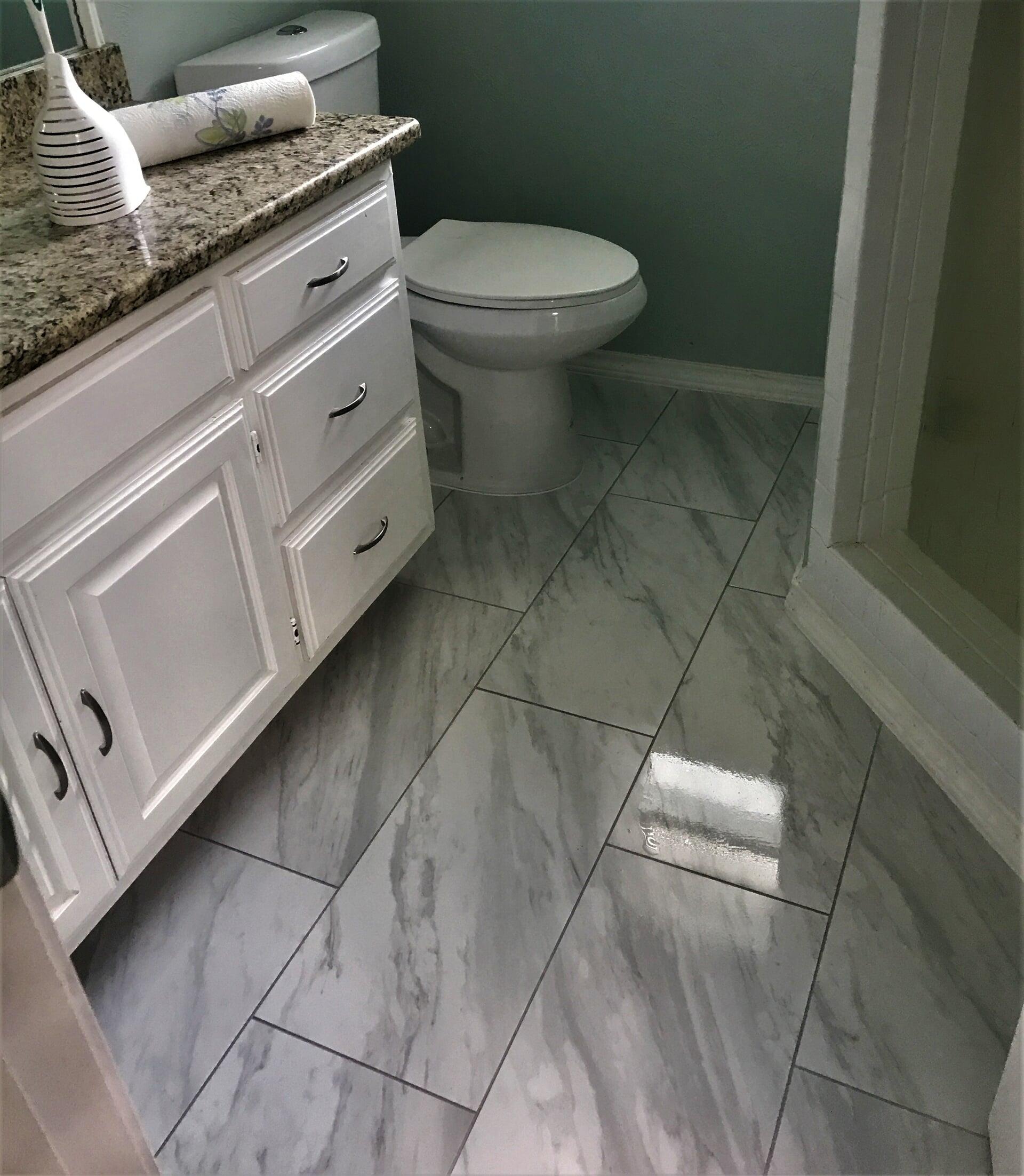 Marble tile flooring in Fort Worth, TX from SJ FloorSolutions LLC