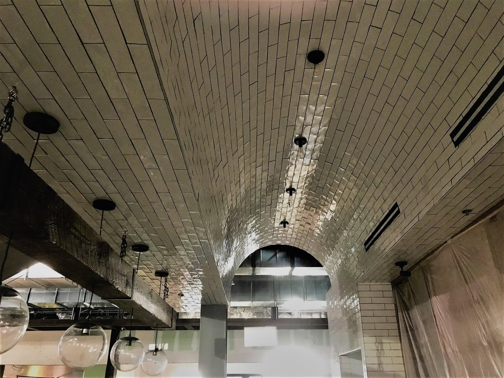Subway tile ceiling in Tyler, TX from SJ FloorSolutions LLC