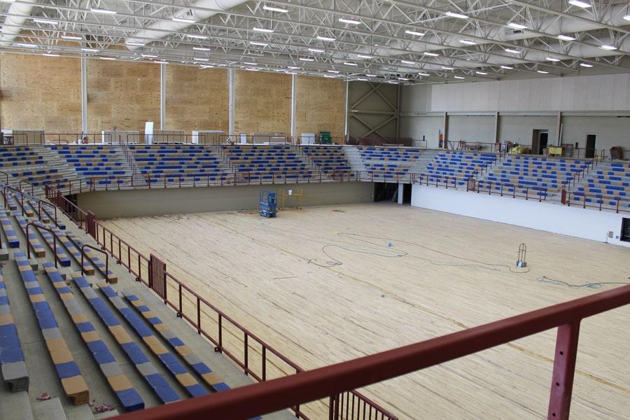 Gymnasium flooring installation in Leawood, MO from Joplin Floor Designs