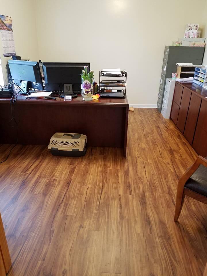 Modern office flooring in Broadway, VA from Strickler Carpet