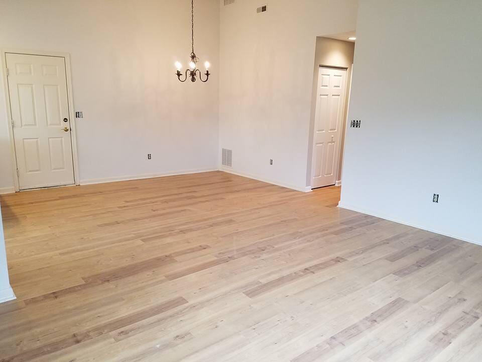 Light tone hardwood flooring in Luray, VA from Strickler Carpet