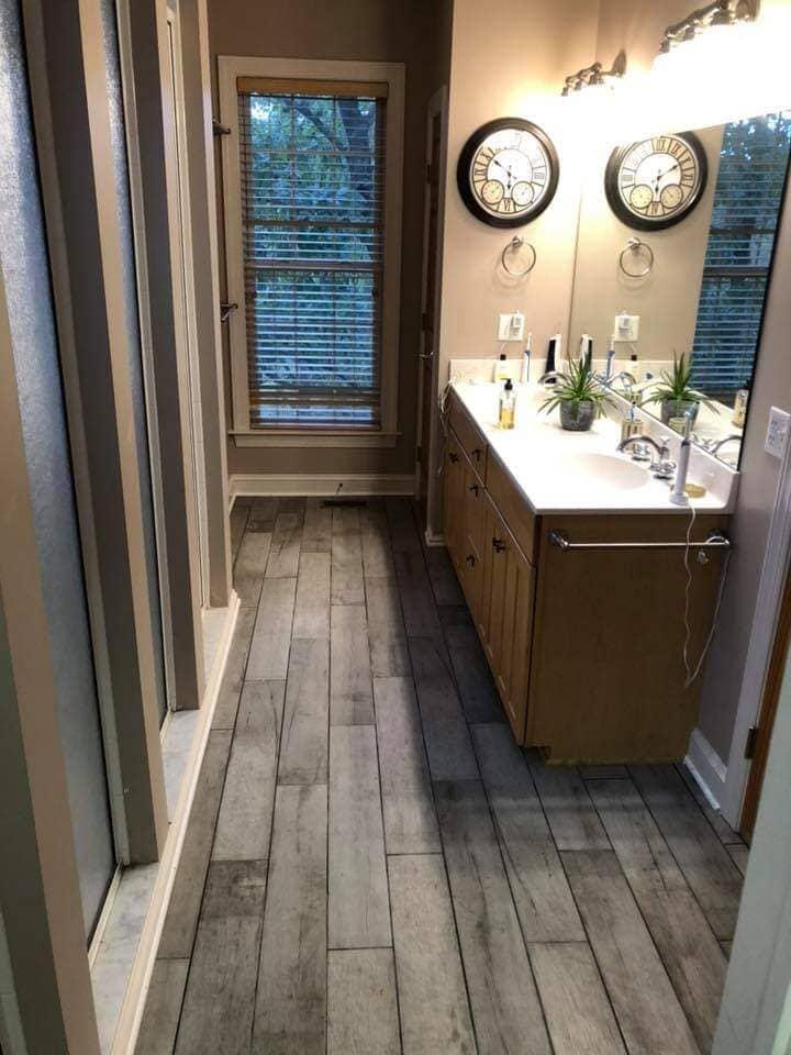 Rustic wood look flooring in Harrisonburg, VA from Strickler Carpet
