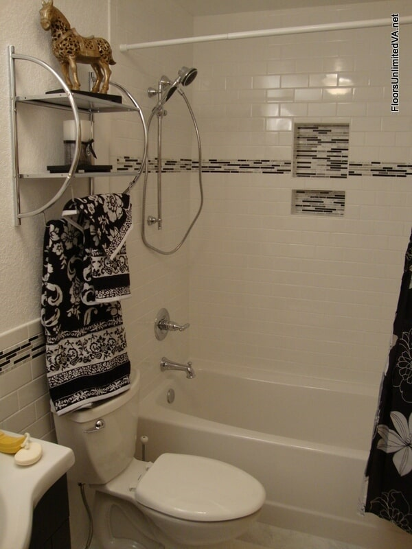 Modern bathroom remodeling in Chesapeake, VA from Floors Unlimited