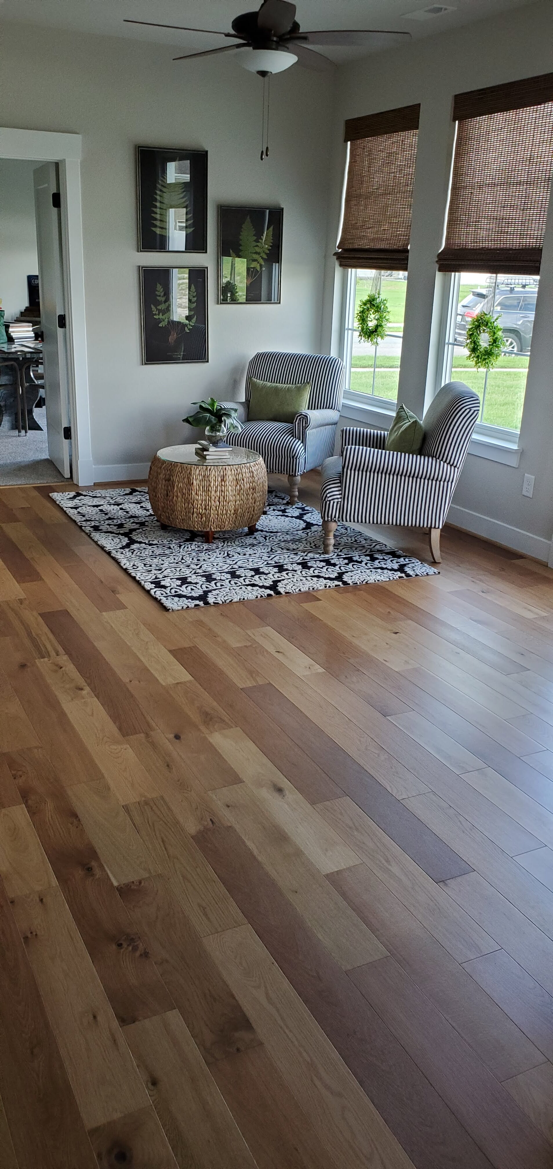 Multi color hardwood flooring in Moyock, VA from Floors Unlimited