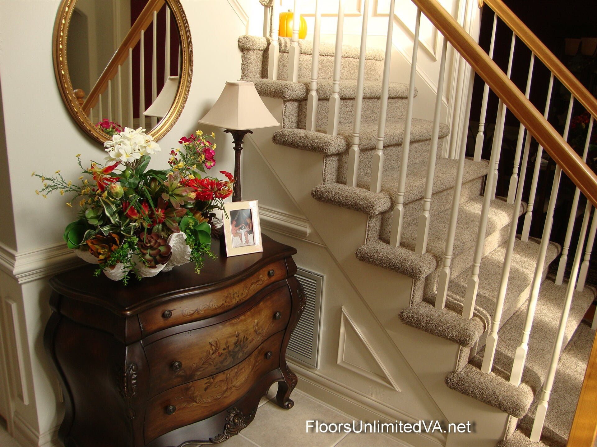 Carpeted stairs in Virginia Beach, VA from Floors Unlimited