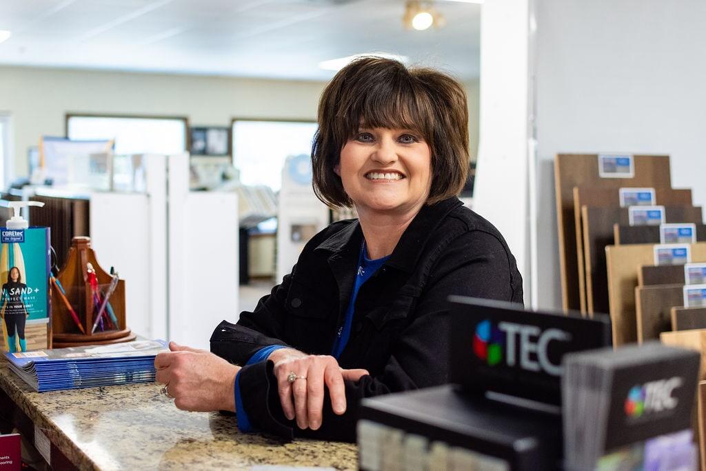 Amy Woolard of Floors Unlimited in Chesapeake, VA