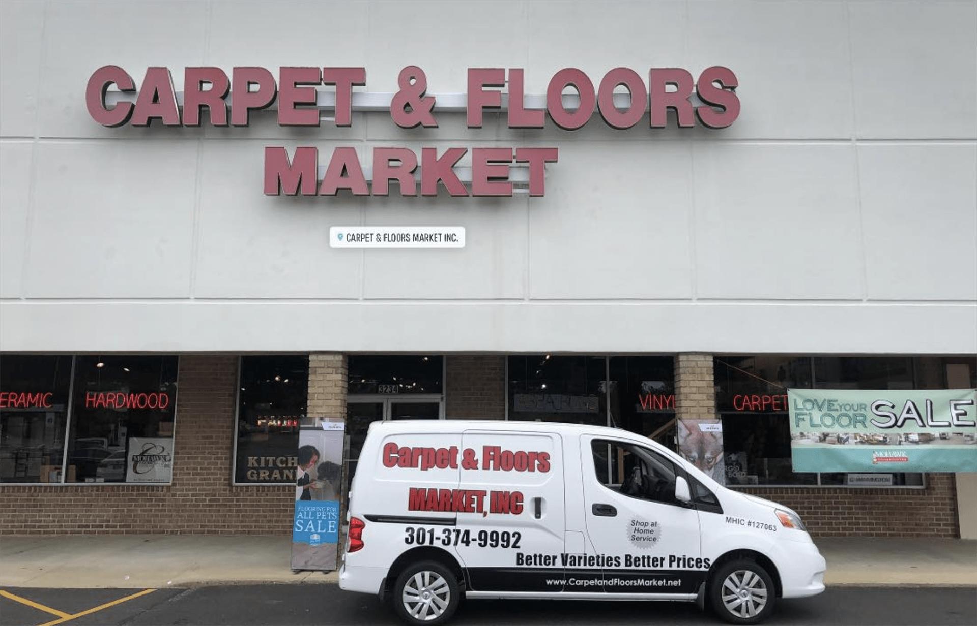 Carpet & Floors Market showroom near Waldorf, MD