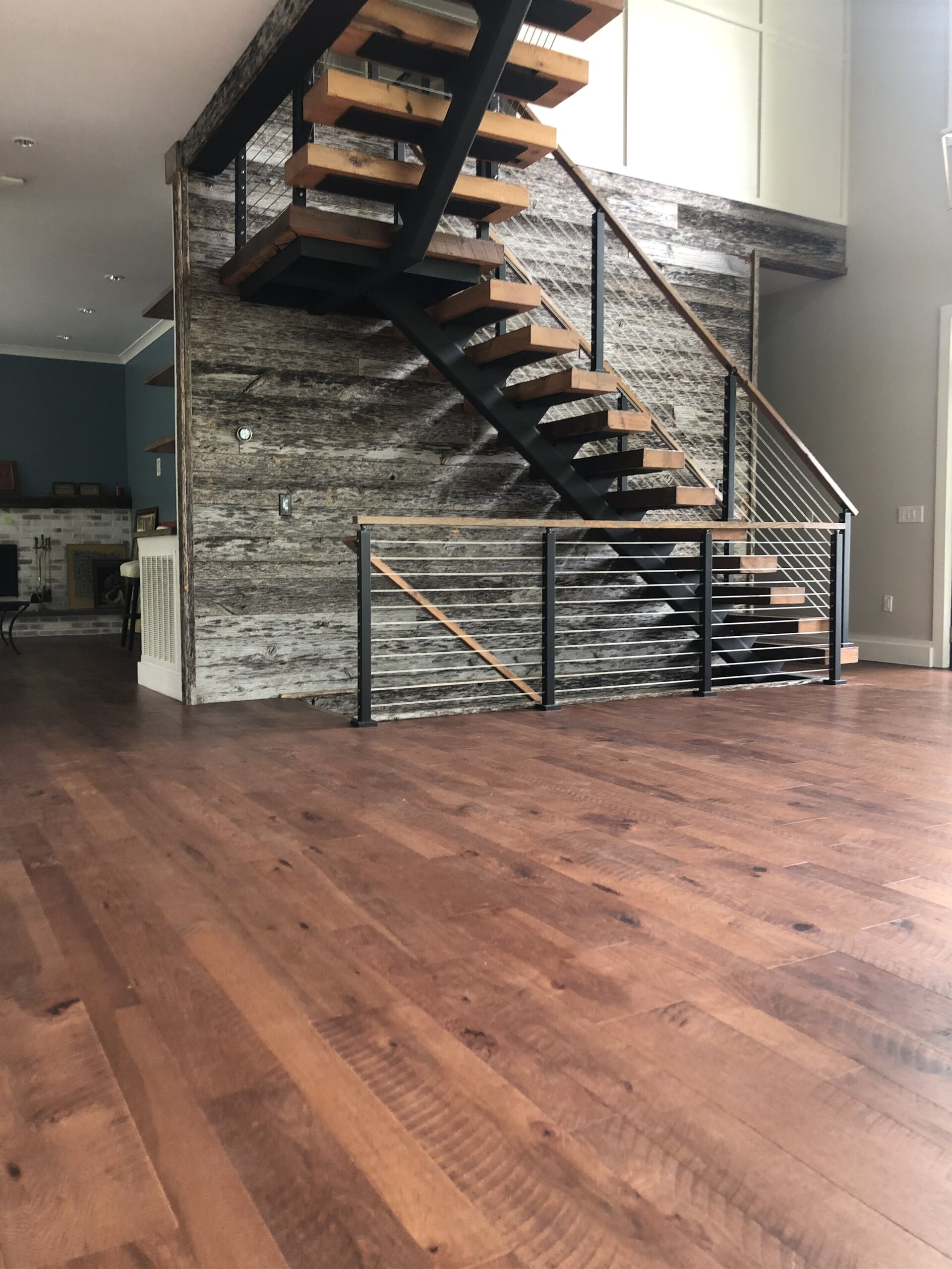 Hardwood flooring with circular saw marks in Reading, PA from Freedom Flooring