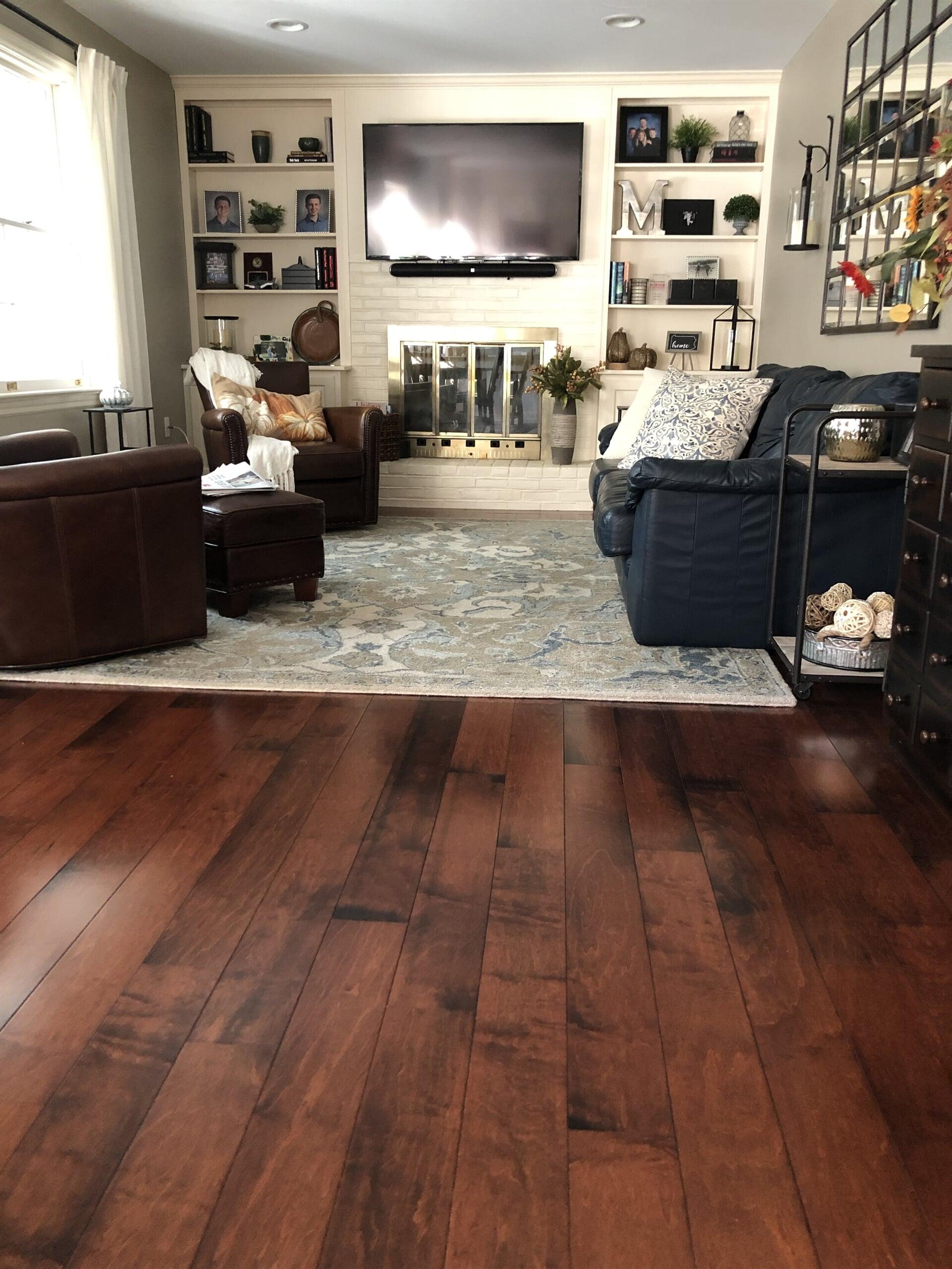 Dark tone wood floors in Harrisburg, PA from Freedom Flooring