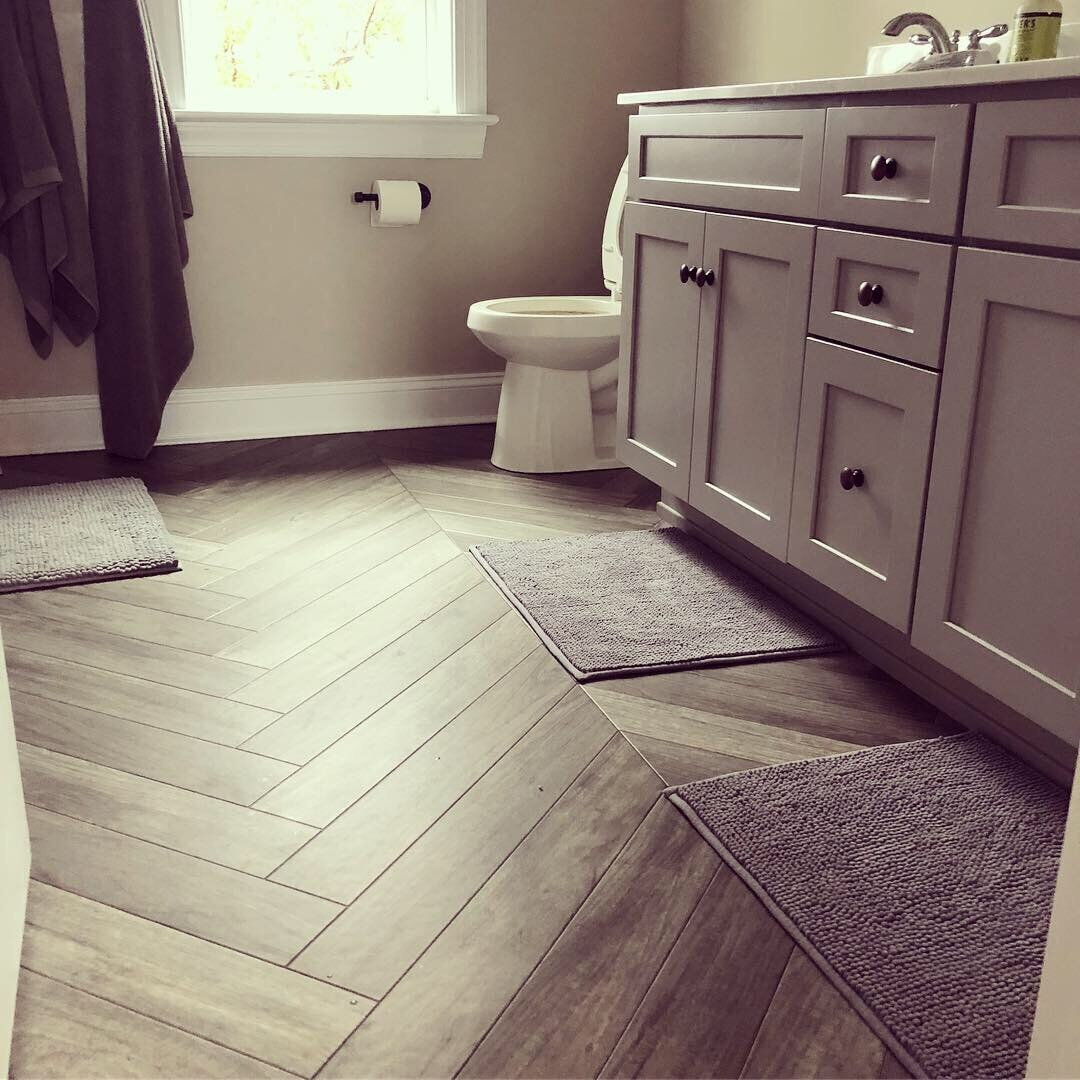 Custom wood look tile installation in York, PA from Freedom Flooring