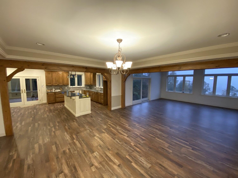 Modern hardwood flooring installation in New Holland, PA from Freedom Flooring