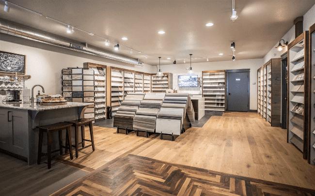 Schmidt Custom Floors showroom in Boulder, CO